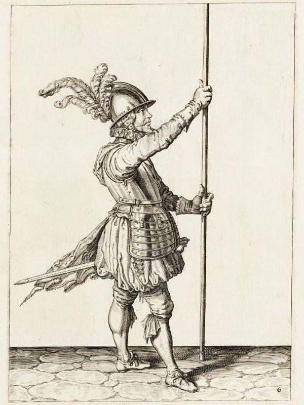Keihäsmiehen levyhaarniska v.1607