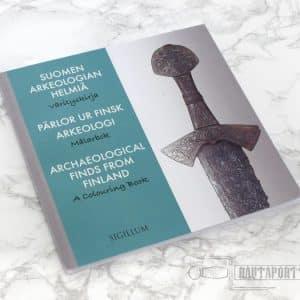 Suomen arkeologian helmiä –värityskirja