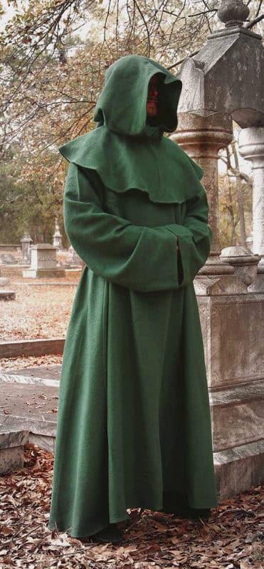 Vihreä munkin kaapu / Druidin kaapu
