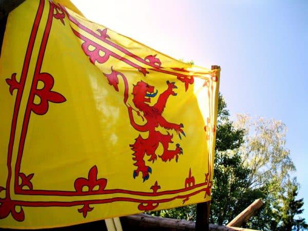 Skotlannin kuninkaan lippu