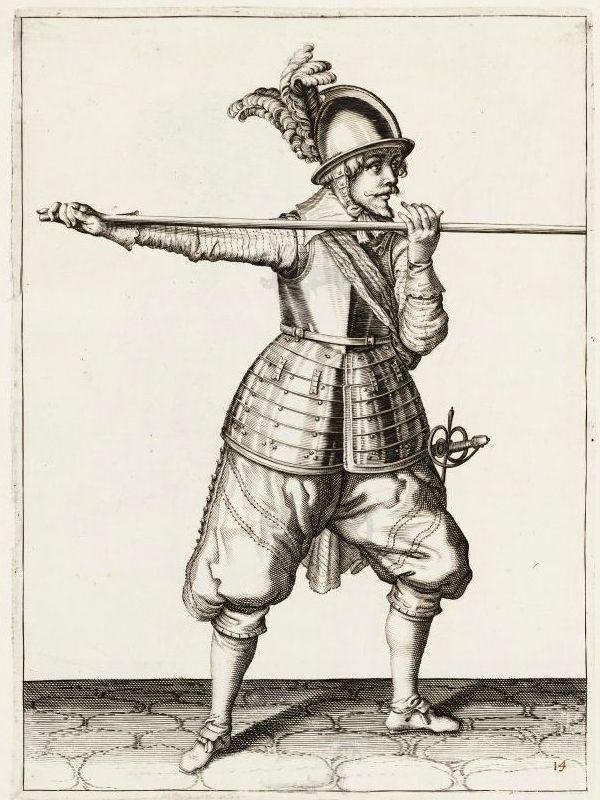 Keihäsmiehen kypärä v.1607