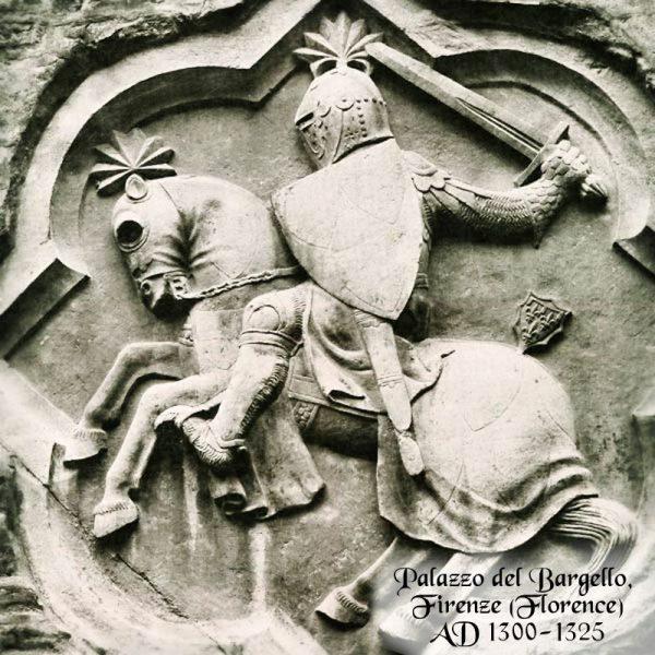 1300-luvun Sokeritoppakypärä visiirillä